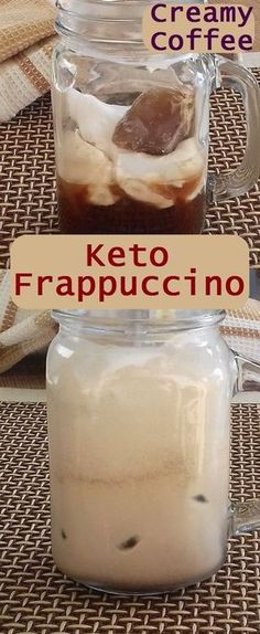 Just 3 minutes separates you from this amazing, cold, coffee keto frappuccino. Creamy texture and the real coffee taste will leave you without breath.