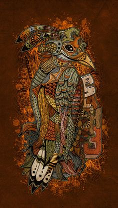 colorful bird wall art / illustration