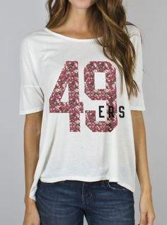 Nike San Francisco 49ers Ladies Retro Basic Logo T-Shirt - Ash ...