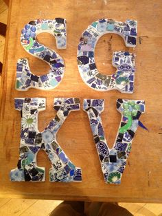 Mosaic Letters by Fine China Mosaics