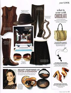 ed32d67efcd6 Dita Bluebird Two in Brown and Gold featured in the August issue of InStyle