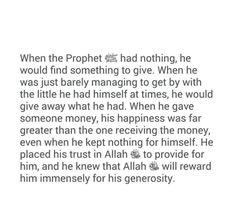 Immensily on hi generosity
