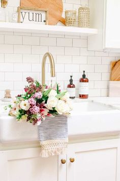 Grocery store flowers made into an arrangement for mother's day! Make a beautiful supermarket flowers arrangement for mom! Beautiful Flower Arrangements, Floral Arrangements, Flowers Last Longer, Different Types Of Flowers, Large Flowers, Exotic Flowers, Purple Flowers, Garden Yard Ideas, Flower Making
