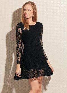 Vestido de Renda Preto - Posthaus