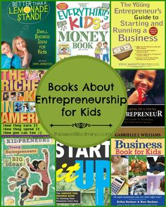 Is your tween looking for more ways to earn a little extra spending money? These books about entrepreneurship for kids are full of ideas for kidpreneurs! Entrepreneurship Education, Entrepreneurial Skills, Entrepreneur Books, Books For Self Improvement, Reading Resources, Financial Literacy, Homeschool Curriculum, Business For Kids, Kindergarten