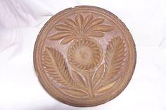 1800's Primitive Butter Press Stamp Sunflower Pattern