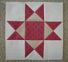 Tradition meets trend with this stunning and simple star block pattern for quilting. Aunt Elizas Star is a stunning block pattern that can easily be created out of scraps and combined to make a star quilt.