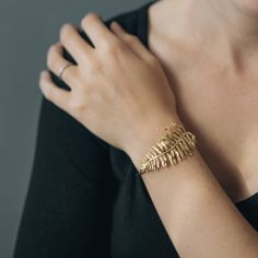 Sword Fern Bracelet- Botanical Cuff in Brass, Bronze, or Sterling Silver por CollectedEdition
