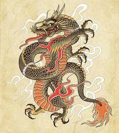 plantilla-tatuaje-dragon