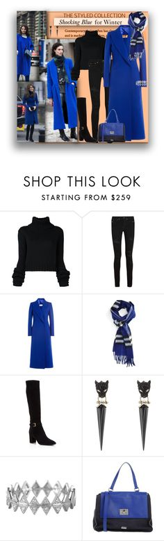 """""""Blue!"""" by jax522 ❤ liked on Polyvore featuring IO Ivana Omazić, Yves Saint Laurent, Maison Margiela, Burberry, Kate Spade, Alexis Bittar, Bony Levy and Armani Collezioni"""