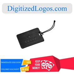Get the Dakota Luggage Tag at only $3.39 instead of $3.77 plus more discount on volume purchase! Please visit Digitizedlogos.com for more information and inquiry.