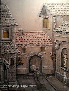 Картина панно рисунок Лепка Картина-барельеф Венеция2 Гипс фото 1