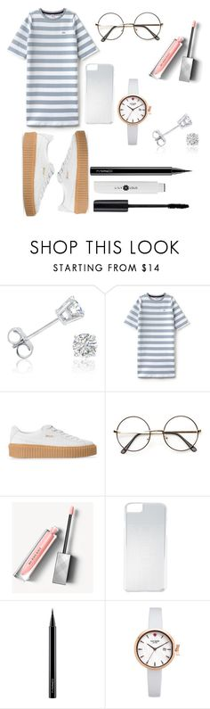 """""""Ulzzang 21"""" by naruto-sabrahummus ❤ liked on Polyvore featuring Amanda Rose Collection, Lacoste L!VE, Puma, ZeroUV, Burberry, Kenzo, MAC Cosmetics and Kate Spade"""