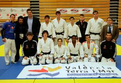 Club de Judo Valencia Terra i Mar en la concentración de judokas de La Universidad Politécnica de Valencia