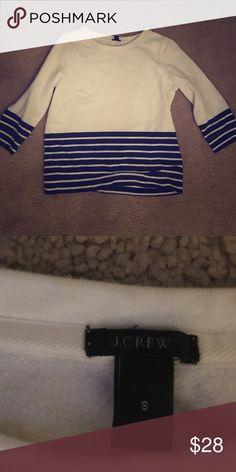 J. Crew sweatshirt Great comfy sweatshirt. 3/4 arm length sleeves. J. Crew Sweaters Crew & Scoop Necks