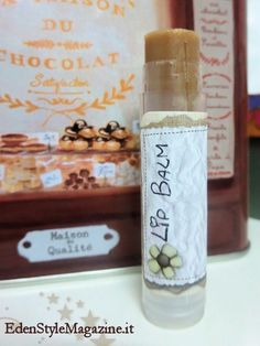 Burrocacao fai da te cioccolato e caramello. Ricette Cosmetici fatti in casa.