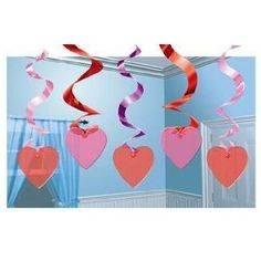 Valentines Day Ceiling Decorations | Candy Hearts Hanging Decoration