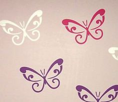 12 MIXED Butterfly Wall Stickers Car Decal Removable *Any Colour* Baby Nursery in Home & Garden, Home Décor, Wall Stickers Living Room Wall Designs, Wall Stickers Cars, Butterfly Wall Decals, Nursery Wall Decals, Girl Nursery, Boy Or Girl, How To Remove, Purple, Baby Things