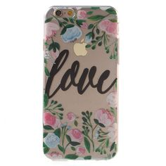 Shop4 - iPhone 6 / 6s Hoesje - Zachte Back Case Love Transparant | Shop4Hoesjes