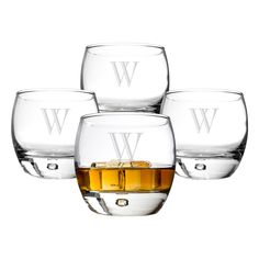 Personalized Heavy Based Whiskey Glasses with Optional Whiskey Stones