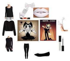 """Bendy Boy or Girl version  #BATIM# Bendy and the ink machine"" by kiannmartinez on Polyvore featuring CO, Armani Collezioni, Gucci, Blu Clover, Converse, Heat Holders and Breckelle's"