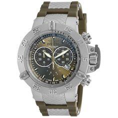 Invicta Men's 19338 Subaqua Quartz Chronograph Olive Green Dial Watch