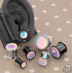 Cosmic Plugs Glow in The Dark Multi Colored Mayan Single Flared Ear Gauge Plug Sold as a Pair