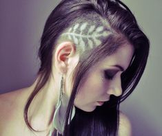 shaved hair designs - Google Search                                                                                                                                                      More