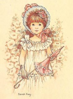 totally unusual for Sarah Kay: defined eyes Sarah Key, Mary May, Decoupage Vintage, Holly Hobbie, Australian Artists, Cute Illustration, Illustrations, Vintage Cards, Cute Art
