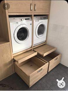 Kitchen Cupboard Organization, Laundry Room Shelves, Basement Laundry, Laundry Storage, Laundry Room Organization, Laundry Room Design, Closet Storage, Organization Ideas, Storage Ideas