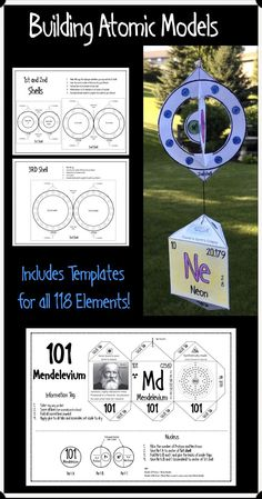 Your students will love coloring, cutting out, and assembling these 3D atomic models of all 118 chemical elements to make a beautiful and lasting display for your classroom.