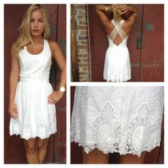 White Criss Cross Back Dress.