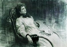 Portrait of Maria Tenisheva Russian Painting, Russian Art, Storyboard, Ilya Repin, Pencil Portrait Drawing, Art Database, Art History, Drawings, Painters
