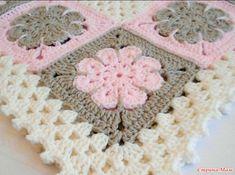 Crochet Pattern – Easton Baby Afghan Pattern – Blanket Babyghan – Throw Blanket or Lapghan Pattern – PDF Format – Granny Square Crochet Flower Squares, Baby Afghan Crochet Patterns, Crochet Motif, Baby Blanket Crochet, Knitting Patterns, Afghan Blanket, Crochet Blankets, Baby Blankets, Crochet Granny