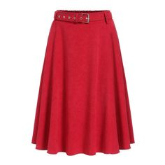 Red Pleated Midi Skirt ($15) ❤ liked on Polyvore featuring skirts, calf length skirts, red knee length skirt, pleated skirt, midi skirt and pleated midi skirt