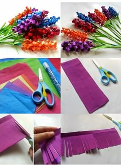 Wonderful DIY Swirly Paper Flowers is part of Paper flowers diy You know when you see those gorgeous fake flowers in the store and wonder how on Earth they get put together Well, now's your chanc - Projects For Kids, Diy For Kids, Crafts For Kids, Craft Projects, Diy Arts And Crafts, Paper Crafts, Diy Crafts, Paper Glue, Paper Flowers Diy