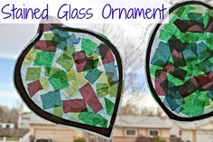 Building Our Story: Stained Glass Ornament - Preschool Christmas Craft...