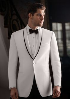 Like the idea of wearing a white tuxedo jacket with the black trim