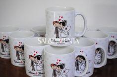 Canecas de cerâmica personalizadas para madrinhas de casamento
