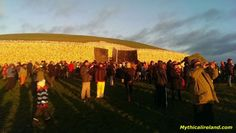 """People gather to see the rising of the sun on the Winter Solstice. From """"Newgrange: A Neolithic Passage Tomb in Ireland"""" by Carolyn Emerick. www.carolynemerick.com"""