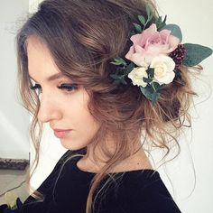 Top 100 bridesmaid hairstyles photos Effortless 🌸 beautiful look created by @natalia_shevchyk @natalia_shevchyk 🌸 #upstyle #beyondtheponytail See more http://wumann.com/top-100-bridesmaid-hairstyles-photos/