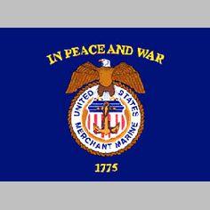 Merchant Marine 2ft x 3ft Nylon Flag