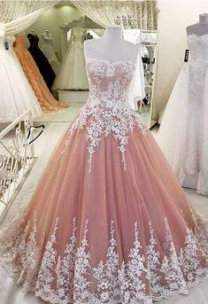 Prom Dress, Elegant A-Line Applique Prom Dress,Lace Tulle Prom Dresses,High Quality Graduation Dresses,