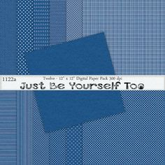 Instant Download 12 x 12 Inch Distressed Blue by JustBYourself2, $3.00 (1122a)