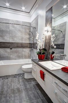 18 Functional Ideas For Decorating Small Bathroom In A Best Possible Way - Salle de Bains 02 Red Bathroom Decor, White Bathroom, Modern Bathroom, Bathroom Ideas, Turquoise Bathroom, Bathroom Accessories, Bathroom Cost, Family Bathroom, Bathroom Sinks