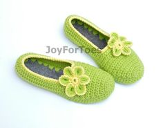 Zapatillas que casa ganchillo zapatos de Ballet por JoyForToes