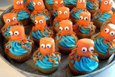 Ocotpus (or jellyfish)  Cupcakes