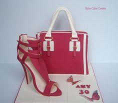 Handbag cake & sugar shoe by Karen Geraghty