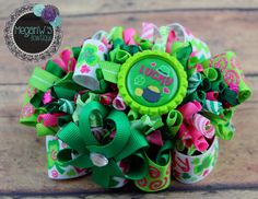 Lucky Funky Loopy Bow by MeganWsBowtique on Etsy