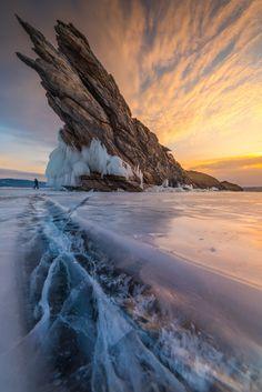 Lake Baikal, Russia, SE Siberia. Lake Baikal is a freshwater lake.